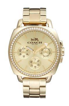 COACH+'Boyfriend'+Crystal+Bezel+Bracelet+Watch,+40mm+available+at+#Nordstrom