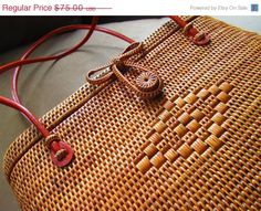 on sale Woven Wood with Decorative Closure Handbag  by truthorwear, $63.75