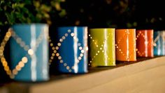 Paint Can Lights by Lowes | Budget Backyard Project Ideas