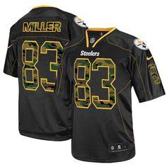 Men's Nike Pittsburgh Steelers #83 Heath Miller Elite Black Camo Fashion Jersey$119.99