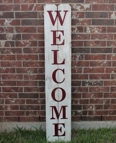 Welcome Sign For Front Door 60 X 11 Wood Sign
