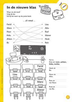 In de nieuwe klas - werkblad @keireeen Speech Language Therapy, Speech And Language, Dutch Language, Little King, Creative Teaching, Kids Education, Spelling, Back To School, Homeschool