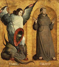 San Miguel Arcángel y San Francisco, ca. 1505–9, Juan de Flandes
