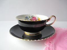 Vintage Royal Chelsea Bone China Teacup and Saucer by jenscloset