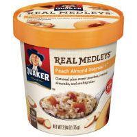 Quaker Real Medleys Peach Almond Oatmeal @influenster @Quaker #HolidayVoxBox