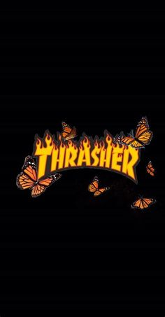 Thrasher With Butterflies 🌻 | Iphone Wallpaper Tumblr
