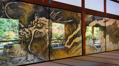 京都天龍寺の方丈「雲龍図」