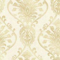 Cream wallcovering by Brewster. Item 2665-21456. Low prices and free shipping on Brewster. Search thousands of luxury wallpapers. Swatches available. Width 20.5 inches.