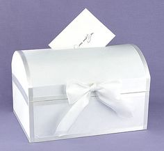 The simple design of this card box makes it ideal for any special occasion.