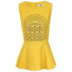 Buy True Decadence Peplum Top, Yellow Online at johnlewis.com
