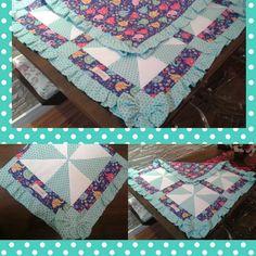 Manta para bebê em patchwork