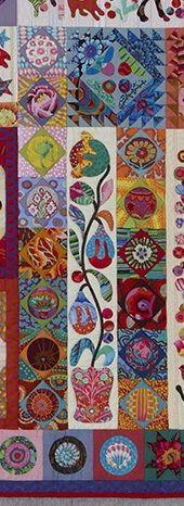 Pandemonium Quilt detail  - by Kim McLean   Use my Kaffes