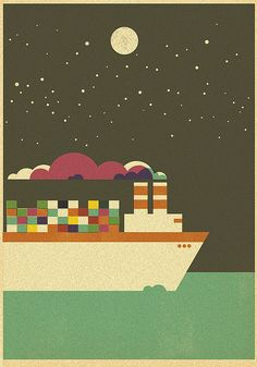 The Sea - Freighter by Skinny Ships, via Flickr