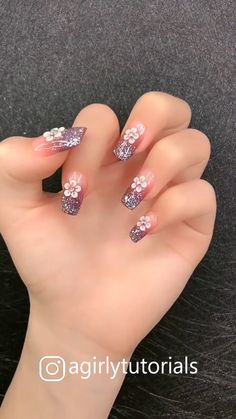 Visit to get around hairstyle tips nail art and a variety of needs for a healthy body Hairstyle Haircare Nailart naildesign diy Summer Acrylic Nails, Cute Acrylic Nails, Cute Nails, Pastel Nails, Nail Art Designs Videos, Nail Art Videos, Nail Tip Designs, Elegant Nail Designs, French Nail Designs
