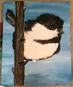 Acrylic chickadee  Lydia Sutton