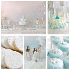 Beautiful Disney FROZEN birthday party ideas!