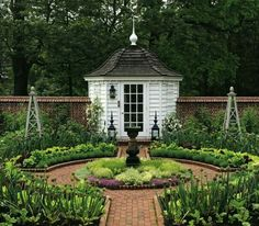 Co Co's Collection : structured formal gardens emphasis on symmetry # formal #gardens  # fountain