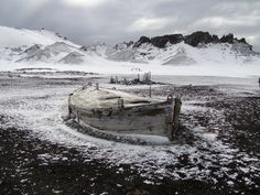 Mystery of the boat in the middle of Bouvet Island: originally discovered in 1739 by Norwegian explorer Jean Baptiste Charles Bouvet de Lozier, the island is a wasteland of rocks and ice, with no vegetation aside from the occasional lichen or moss - unknown photographer