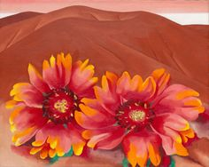 Georgia O'Keeffe. Red Hills with Flowers, 1937. Bequest of Hortense Henry Prosser, 1992. © 2014 Georgia O'Keeffe Museum/ Artists Rights Society (ARS), New York.