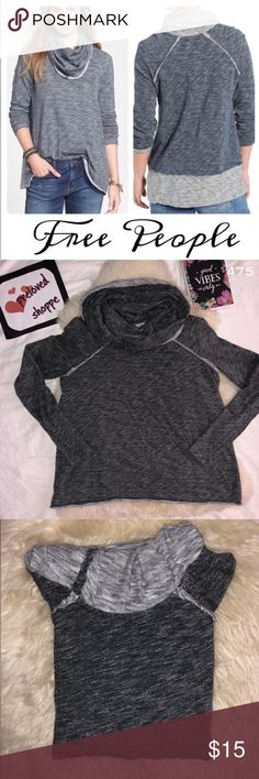free people beach cocoon cowl neck pull over 🐾 very nice like new no flaws  measurement in inches length : 24 width : 20 sleeve length : 19  pls. note that colors may vary due to lighting and photography    check my listing and bundle to save . will give u a very good discount. Free People Sweaters Cowl & Turtlenecks