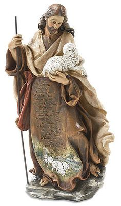 Jesus the Good Shepherd Prayer Statue - Figures of Faith 18 1/4""