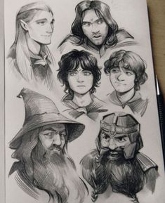 The hobbit & lord of the rings oneshots & imagines (Discontinued) - ~Aragorn~ - Wattpad Aragorn, Gandalf, Legolas And Gimli, Jrr Tolkien, Character Art, Character Design, Character Sketches, O Hobbit, Hobbit Art
