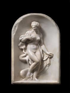 """FLORENTINE, 17th or 18th century After GIAMBOLOGNA (1529-1608)  Venus or Galatea with a dolphin Marble, 20 x 13cm The reverse inscribed in ink in copper-plate script,  """"Del Giambologna"""""""