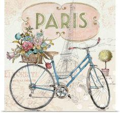 Lisa Audit Poster Print Wall Art Print entitled Paris Forever III, None