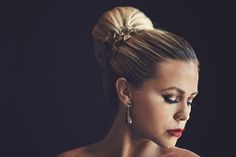 Bridal Jewelry by Maria Elena from Solutions Bridal. Wedding Jewelry, Earrings & Wedding Dress.     Photo by KV Photography