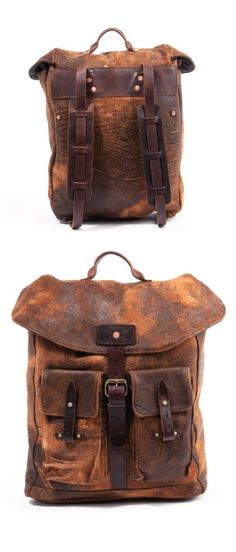 Old looking vintage backpack http://www.leonknife.com