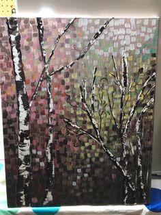 Birch tree paint day