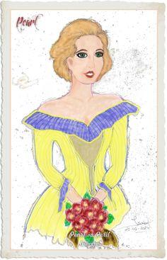Pearl na festa do casamento ( com uma roupa diferente, já que no jogo ela não troca de roupa ) // Pearl´s Peril - Game - Wooga // Feita no Paint // Cruzes !!! Trabalhar no Paint é dose!!!! Não me ajeito mesmo! Mas, enfim... só pelo trabalho que deu , coloquei-a aqui também. 26-01-2014