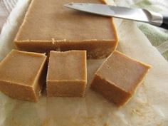 Almond Butter Fudge. Absolutely amazing and so easy to make! Both Brett and I loved it! All natural, vegan, paleo