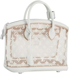 Louis Vuitton Spring/Summer 2012, Transparent Lockit tote. Cute for beach trips or summer adventures!