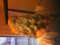 Pretty!! Half up Bridal hairstyle. Hair and makeup, wedding styles by Tanya Dannhaus
