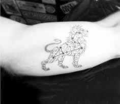 Cool Leo Constellation Tattoo For Men On Bicep