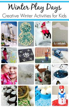 Winter activities for kids including ideas for small world play, sensory play, playing with real snow, winter art, and winter fine motor activities.