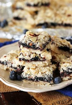 Blueberry-Almond Bars
