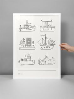 Boats print by Maddison Graphic