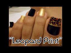 """""""Estampado Leopardo"""" temporada Otoño para las uñas  de los pies/""""Leopard..."""