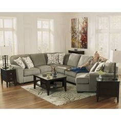 Captivating Arrow Furniture, Contemporary Light Brown Sectional. Loveseat+wedge+armless  Loveseat+chaise