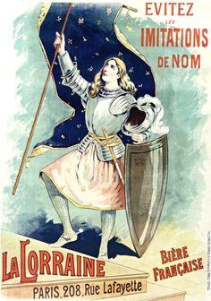 La Lorraine, bière française (1885) Jeanne d'Arc