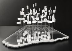 """Manhattanisms: 30 Firms Envision New York City's Future Through Drawings and Models,""""SHARING METABOLISM A Speculative Policy for Manhattan,"""" MAIO. Sharing Models: Manhattanisms. Storefront for Art and Architecture, 2016. Image Courtesy of MAIO"""