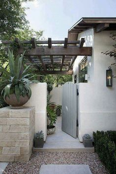 Private courtyards off the master and off the casita