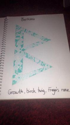 Berkana -growth, birch twig (B) Norse Pagen goddess Fraya/ Freya/Freja `s rune Norse Rune