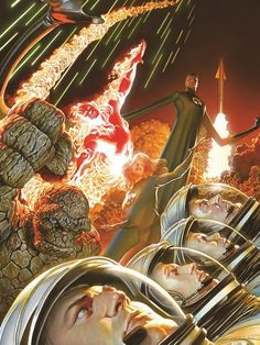 The Fantastic Four by Alex Ross from http://bamsmackpow.com/2015/01/02/fantastic-four-movie-comic-book-controversy/