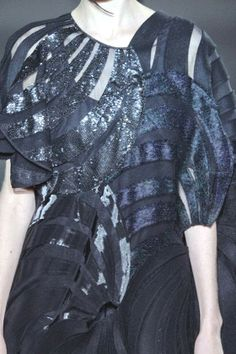 PRINTS, PATTERNS, TRIMMINGS AND SURFACE EFFECTS FROM PARIS FASHION WEEK (A/W 14/15 WOMENSWEAR) / 6 From Paris womenswear catwalks, beautiful details and inspirations. Junya Watanabe.
