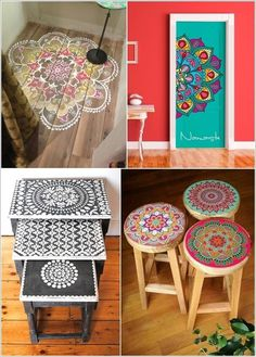 Patterns-indian-interior-design Top 10 Indian Interior Design Trends for 2018 Diy Furniture Projects, Ikea Furniture, Paint Furniture, Furniture Makeover, Furniture Design, Painted Chairs, Hand Painted Furniture, Indian Home Decor, Diy Home Decor