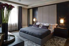 Apartamento Luxuoso em Cores Neutras-dormitório de casal