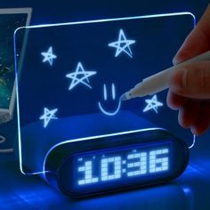 Glowing Memo Alarm Clock Technology